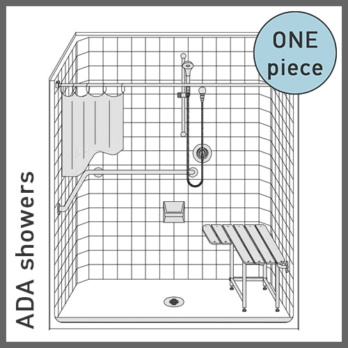 One-Piece ADA Showers